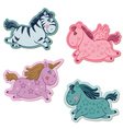 unicorns horse set vector image vector image