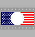 united states flag frame card background vector image vector image