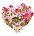 Valentine vintage card EPS 10 vector image