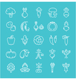 Vegetables Line Icons 6 2 vector image vector image