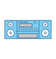 vintage radio stereo vector image