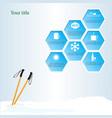 winter trip vector image vector image