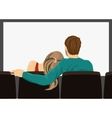 young couple on a movie date vector image vector image