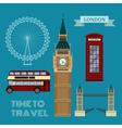 London Symbols Travel Time Set vector image