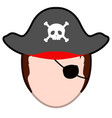 abstract halloween pirate costume vector image vector image