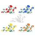 Abstract wildflowers vector image