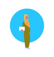 arabic woman icon wearing traditional clothes full vector image vector image