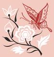 artistic floral set vector image vector image