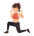 athletic woman exercising character vector image