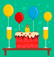 birthday ready party concept background flat vector image