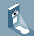 Book with keyhole and eye vector image