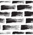 brush strokes seamless pattern in black white vector image