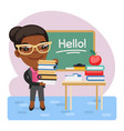 cartoon english teacher vector image vector image