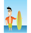 cartoon surfer vector image vector image
