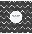 chalk chevron blackboard frame seamless pattern vector image