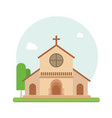 christian church flat vector image