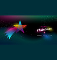 christmas and new year glow shooting star card vector image vector image