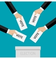 Concept of voting vector image vector image