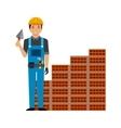 construction worker cartoon icon vector image vector image