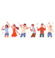 dancing people set cartoon vector image