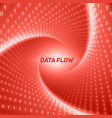 data flow visualization red flow of vector image vector image