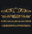 divider royal gold vintage ornament line frame vector image vector image