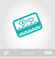 electronic keycard outline icon summer vacation vector image