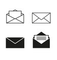 envelopes icons set vector image vector image