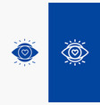 eye eyes education light line and glyph solid vector image