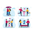 family recreation activities concepts set vector image vector image