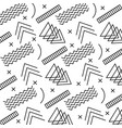 geometric pattern with form a triangle lines vector image