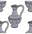 georgian symbol jug or vessel with ornament vector image vector image