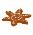 gingerbread flower icon isometric style vector image vector image