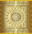 gold 3d sunny greek panel pattern vector image