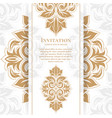 gold vintage greeting card on a white background vector image vector image