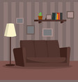 home interior cartoon flat classic room vector image