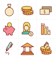 Icons Style banking icons vector image vector image