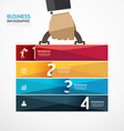 infographic Template with businessman vector image vector image