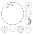 isolated object of sport and ball symbol vector image vector image
