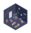 isometric fitness vector image vector image