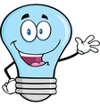 Light bulb waving vector image vector image