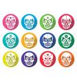 Lucha Libre - Mexican sugar skull flat design vector image vector image