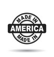 made in america black stamp on white background vector image vector image