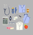 medical equipment set vector image