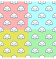 seamless pattern set with clouds cute vector image vector image