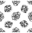seamless pattern with black and white brassica vector image