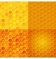 Seamless pattern with honey cells combs vector image vector image