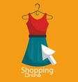shopping online with female clothes vector image vector image