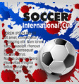 soccer ball 3d poster of football sport template vector image vector image