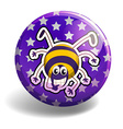 Spider smiling on round badge vector image vector image